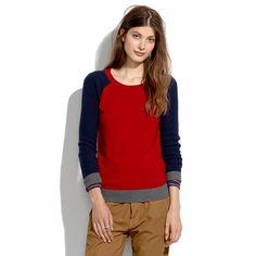Madewell - Wafflestitch Colorblock Sweater