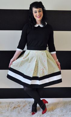 Pride and Prejudice skirt in cream by Sandee Royalty, $78.00