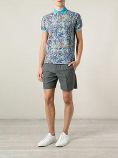 11c69d4133 Etro Paisley Print Polo Shirt - Mantovani - Farfetch.com Asian Men Fashion,  Latest