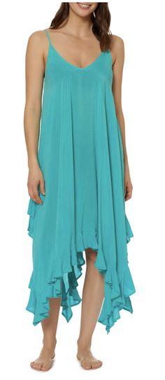 Handkerchied Hem Cover-Up Dress Shop now --> http://shopstyle.it/l/ECcI