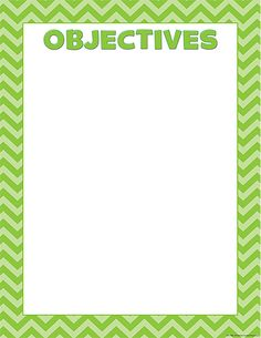 Lime Chevron Objectives Chart $2.49 #TeacherCreatedResources #ChevronClassroom