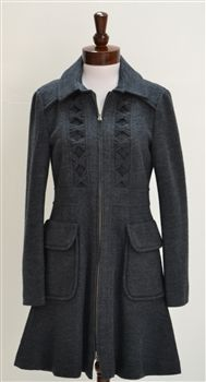 Nanette Lepore  Provacative A-Line Knit Coat
