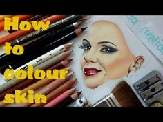 (87) 2000 SUB SPECIAL! How to colour skin using coloured pencils- Drawing Tutorial by Cloctor Creations - YouTube