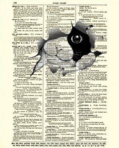 Dictionary Art Page Cat Art Print Antique by reimaginationprints, $10.00