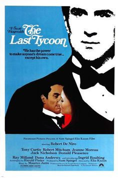 F. Scott Fitzgerald's THE LAST TYCOON MOVIE POSTER Robert de Niro 24X36