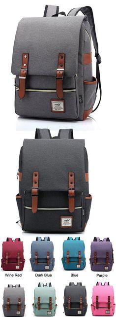 Vintage Canvas Travel Backpack Leisure Backpack&Schoolbag for big sale ! #vintage #canvas #travel #backpack #Bag #college #student #school #rucksack #travel #cute
