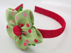 New Personalized Ribbon Flower  headband for Spring