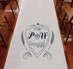 Regal Monogram Wedding Aisle Runner #theweddingoutlet  @TheWeddingOutlet.com