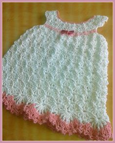 white baby dress  crochet dress  baby clothes  white by BABYBASKET