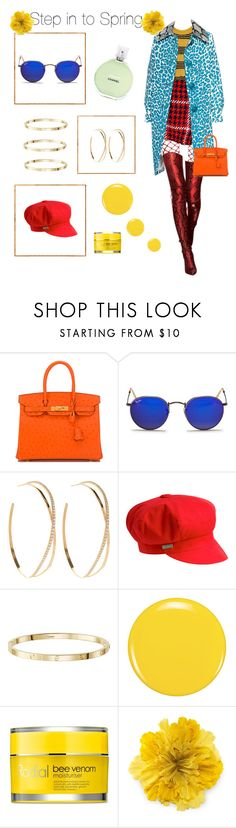 """""""Step into Spring"""" by bananmontan ❤ liked on Polyvore featuring Hermès, Ray-Ban, Lana, Betmar, Zoya, Rodial, Gucci and vintage"""