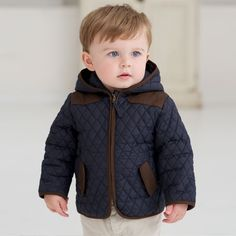 Winter Jacket with Hood - Coats and Jackets - Baby boys by Dave Bella Kids Clothes www.davebella.co.uk
