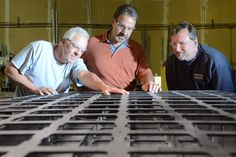 Jeff Cartier, estimating and design manager for JE Monahan Fabrication (center) chose the TruLaser 2030 fiber from @TRUMPFinc after carefully considering his options. Photo credit: ©SaratogaPhotographer.com  http://www.shopfloorlasers.com/laser-cutting/320-laser-greenhorns