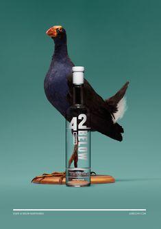 42 Below Vodka - Print Campaign, still life, retouching, bottle.