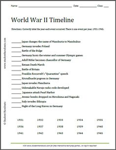 World war ii map cool progression from 1939 1945 that shows world war ii timeline worksheet free to print pdf file gumiabroncs Images