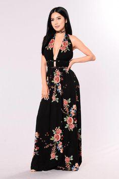 a64e44e9eb51 Tokyo Nights Dress - Black #1980SWomensFashion Denim Maxi Dress, Maxi  Dresses, Women's Fashion