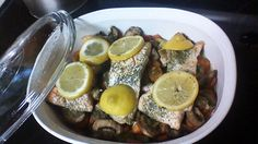 Baked salmon and veges