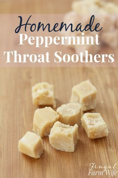 Homemade peppermint cough drops work almost like magic, and they're as easy to make as mixing three ingredients together!
