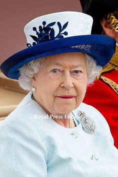 Queen Elizabeth during her 88th Birthday celebrations, Trooping the Colour 14th June, 2014