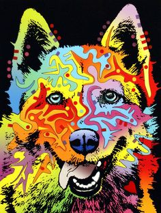Yakone & Ziva  Siberian Husky Painting  - Siberian Husky Fine Art Print   @http://fineartamerica.com/featured/5-siberian-husky-dean-russo.html#
