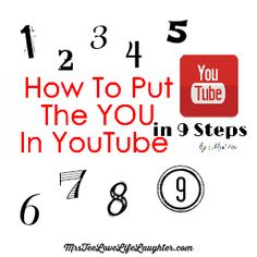 You need to put the YOU in your YouTube channel. Mrs Tee gives us 9 steps to personalize your YouTube Channel.