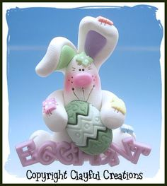 Becky's Polymer Clay White Egg Hunt Chubby by clayfulcreations