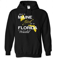 (MEJustVang002) Just A Maine Girl In A Florida World - #disney shirt #sweater skirt. CHECK PRICE => https://www.sunfrog.com/Valentines/-28MEJustVang002-29-Just-A-Maine-Girl-In-A-Florida-World-Black-Hoodie.html?68278