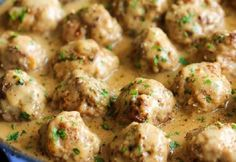 This recipe calls for a combination of beef and pork for an easy version of Swedish meatballs. Get the recipe at Damn Delicious. (ground beef recipes for dinner oven) Beef Dishes, Food Dishes, Main Dishes, I Love Food, Good Food, Yummy Food, Delicious Recipes, Pork Recipes, Cooking Recipes