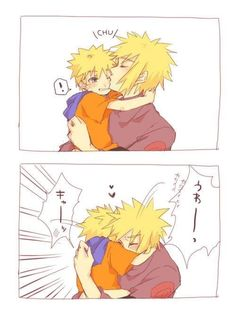 Father and son moment. :'3
