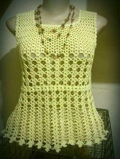 Fabulous Crochet a Little Black Crochet Dress Ideas. Georgeous Crochet a Little Black Crochet Dress Ideas. Crochet Pincushion, Crochet Buttons, Crochet Stitches, Crochet Patterns, Tunisian Crochet, Crochet Tank Tops, Crochet Shirt, Diy Crochet, Crochet Top
