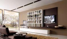 regalsysteme design wohnwand wohnzimmer braun weiß