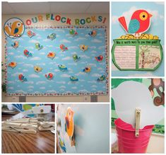 Here are some great ideas that would work with our Happy Birds Accents and trim! Love the clothes pin on the back!