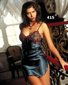 Sexy lingerie photos and videos. Join our lingerie fetish community. Pyjama Satin, Satin Nightie, Satin Sleepwear, Satin Lingerie, Sexy Lingerie, Lingerie Drawer, Satin Slip, Silk Satin, Sexy Pajamas