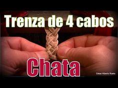 """Trenza de 4 cabos (Chata) (leather braids)  """"El Rincón del Soguero"""""""