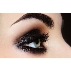 BLACK Cosmetic Glitter for Makeup, Eye Shadow, Lips, Nail Polish, Body... ($7.95) ❤ liked on Polyvore featuring beauty products and makeup