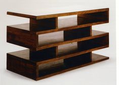 Bauhaus design | newspaper shelf by Walter Gropius.