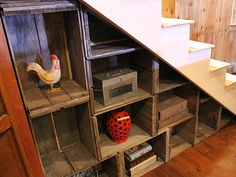 under stairs storage reclaimed wood - Google Search