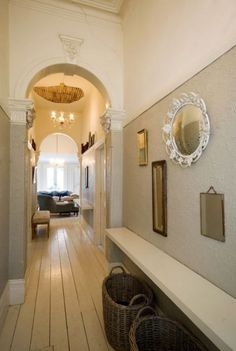 I guess all this open concept living is making me appreciate hallways