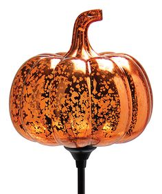 This Orange Solar Pumpkin Garden Stake by Exhart is perfect! #zulilyfinds