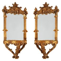 George III-Style Chinoiserie Carved Wall Brackets