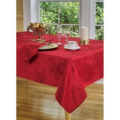 Dinner Party Noel 60x84 Tablecloth With Set of 6 Napkin