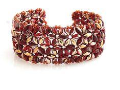 Superduo beaded bracelet http://www.sashe.sk/kacenkag/detail/jesenne-kvety-2