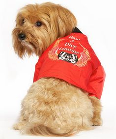 'Paw A Dice Lounge' Pet Casino Jacket by Pet Life #zulily #zulilyfinds