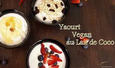 Délicieux yaourt au lait de coco, vegan, sans lait avec pleins de probiotiques....Miam