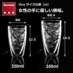 Amazon|Ferranoダブルウォールグラス2個セット Vico(ヴィーコ)350ml|タンブラー オンライン通販
