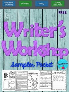 """WRITER""""S WORKSHOP  Enjoy this  FREE Writer's Workshop Sampler  set.  ********** Students will love using these sampler pages during your writing lessons or at literacy centers as they work on writing.   Included you will find a sampling from:   Interactive Writer's Notebooks   (CCSS AND Write Traits)       How to teach for Ideas lesson ideas       How to teach for Ideas template to try  *****   The Ultimate Assessment Binder        Assessment form and observation forms for Reading: ..."""