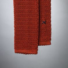 """Cri de la Soie"" Rust-coloured Knit Tie by Peacon, handmade in Germany! #knittie #sprezzatura #menstyle #gentleman"