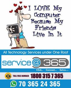 #Serviceat365 All Technology Services Now at Your Doorstep. CCTV Installation, Laptop & Desktop services.Call Toll-Free Number: 1800-3157-365