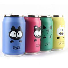 Cute Thermosses/Digunakan agar minuman tetap panas di dalam thermos/Diameter 7cm, panjang 13cm/250 ml/harga 98rb