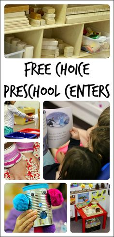 How and why to use free choice centers in preschool. Also applicable to kindergarten and homeschool classrooms!