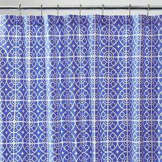 Taza Blue Shower Curtain